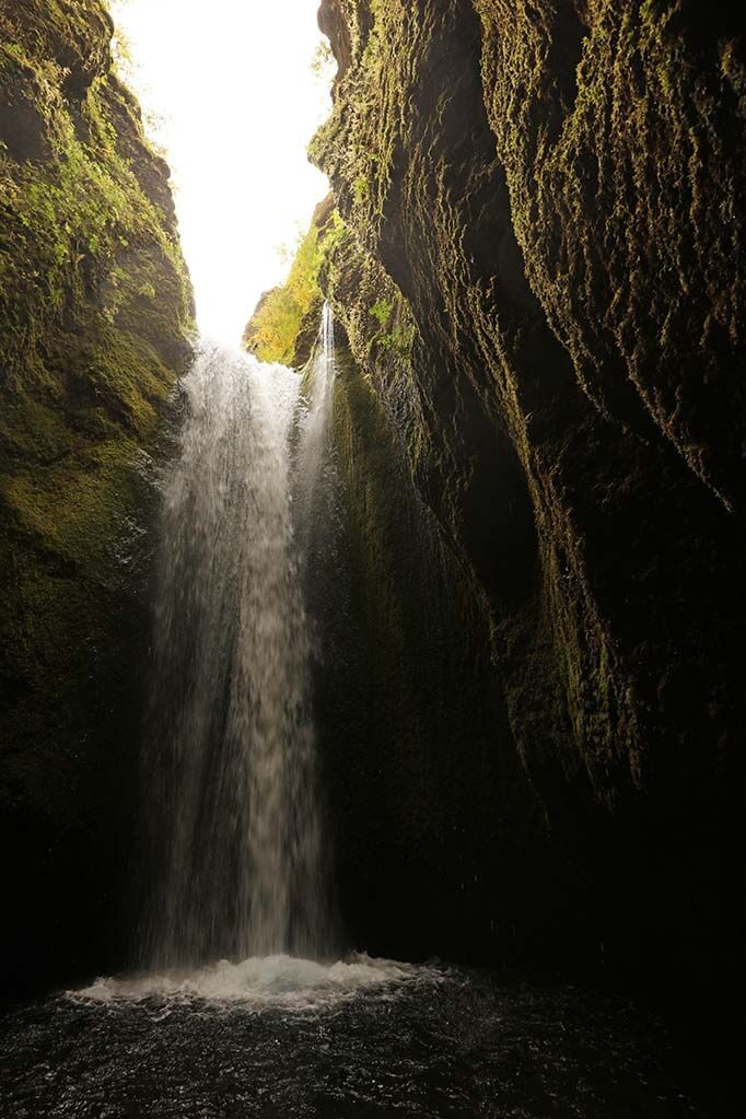 Nauthusagil Waterfall is a hidden gem of the south coast of Iceland