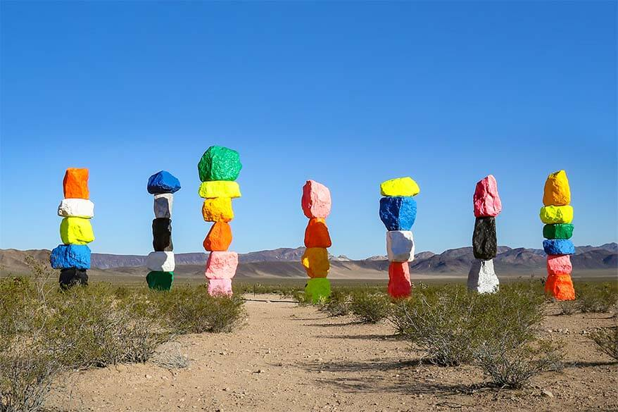 Places to visit near Las Vegas - Seven Magic Mountains