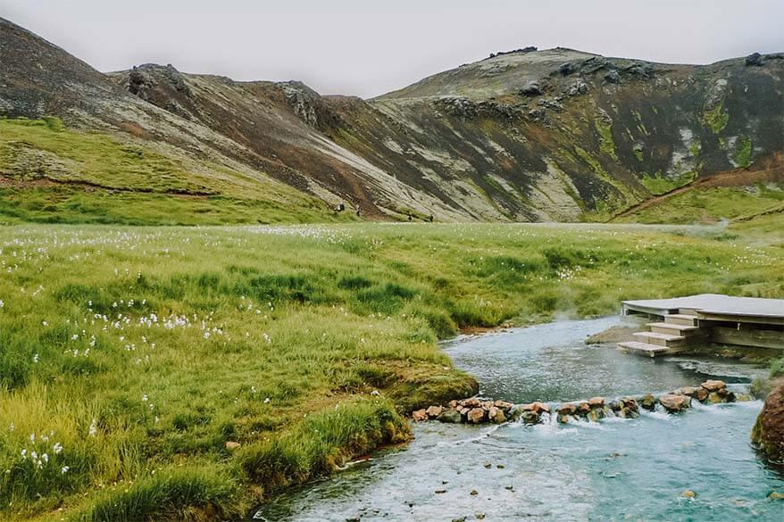 Reykjadalur Hot Springs in southern Iceland
