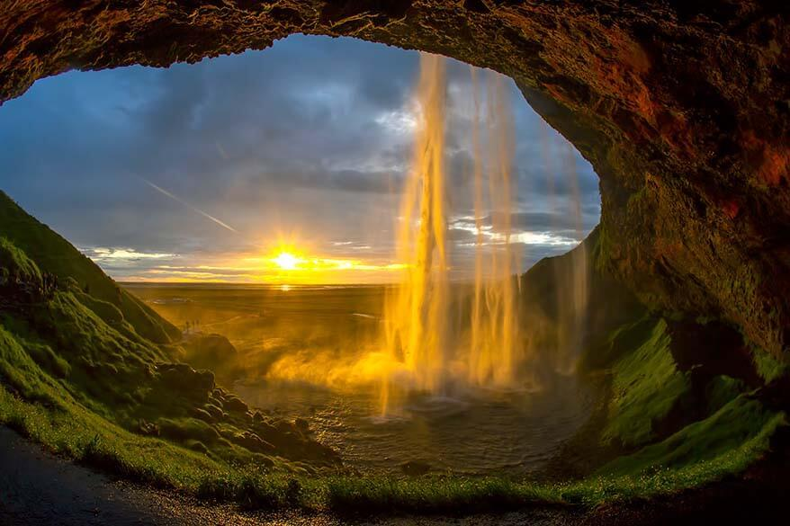Seljalandsfoss is one of the main Iceland south coast attractions