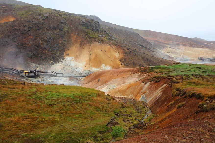 Seltun Geothermal Area in Reykjanes Peninsula