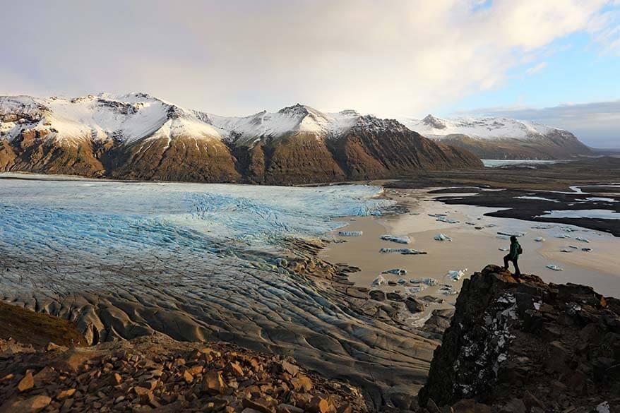 Sjonarnipa hike at Skaftafell in Iceland