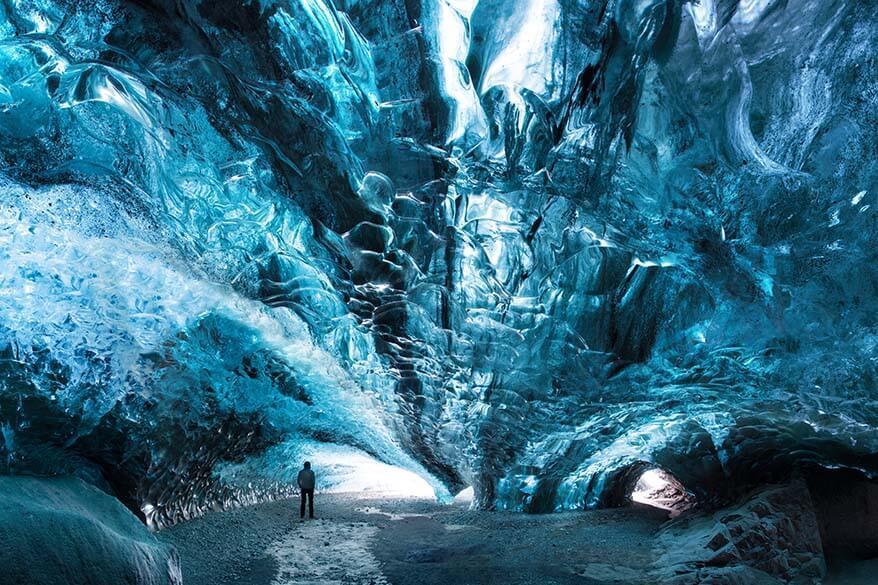 Vatnajokull glacier caves in Iceland