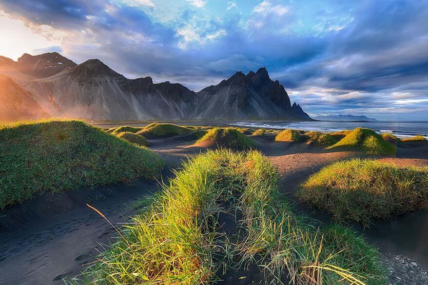 Vestrahorn mountain at Stokksnes in Iceland