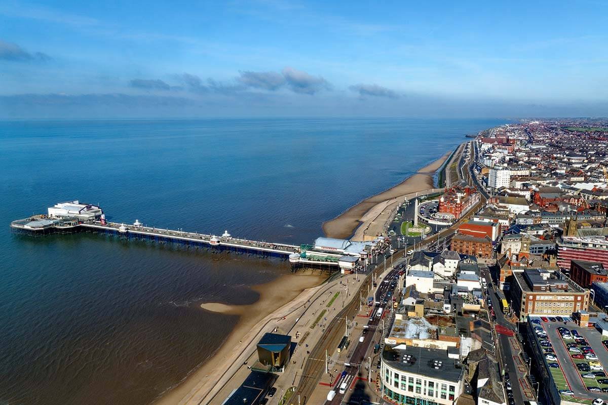 Aerial view from The Blackpool Tower Eye