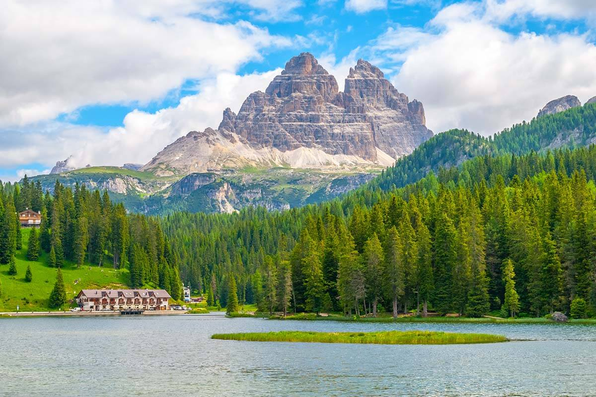 Best places in the Dolomites - Lake Misurina