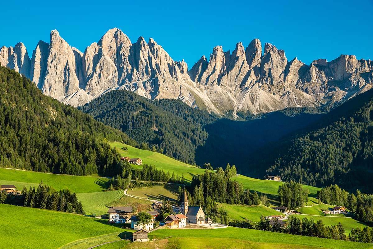 Best places in the Dolomites - Santa Magdalena church in Val di Funes