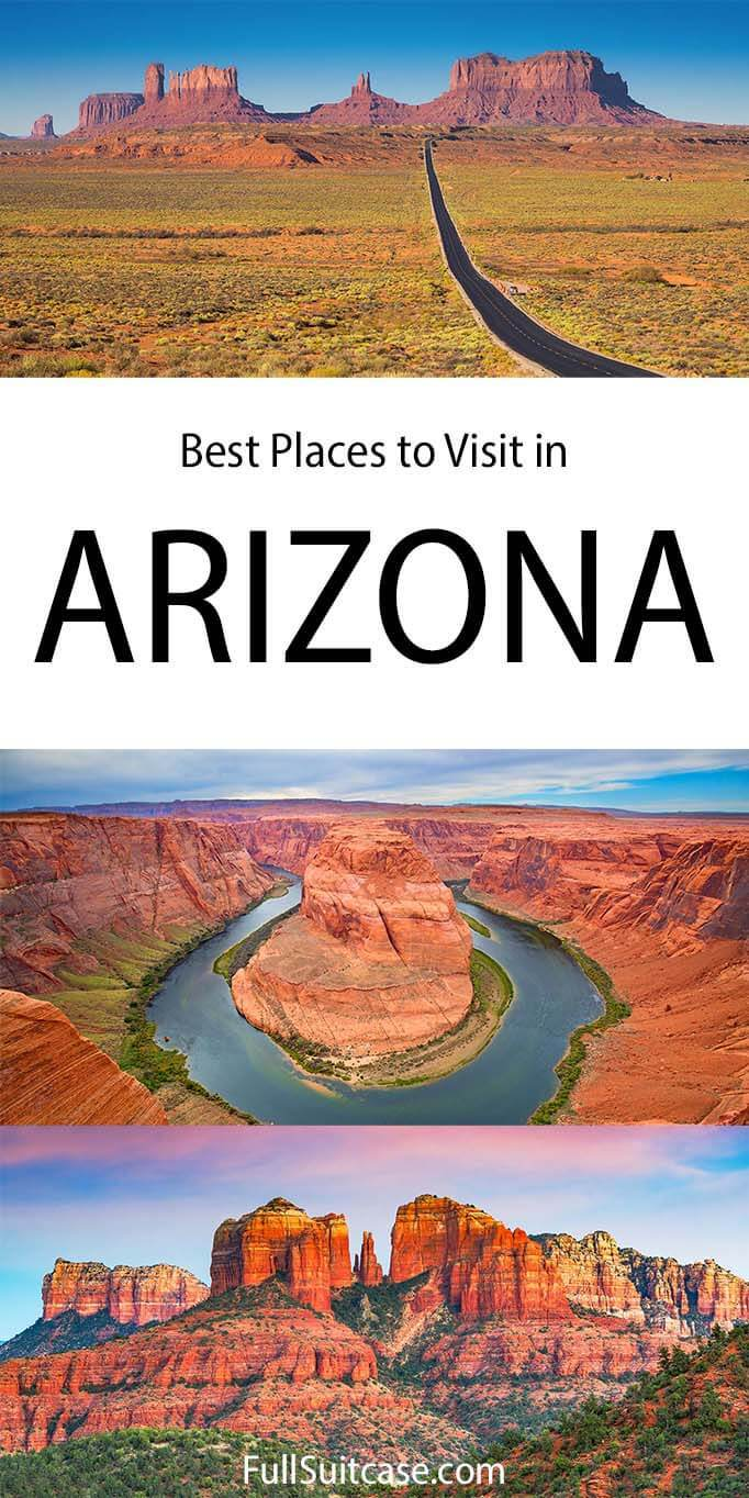Best places to visit and top attractions in Arizona