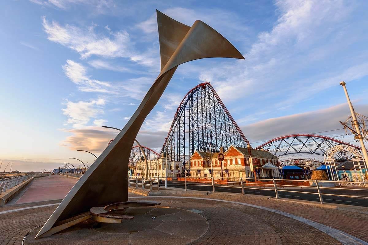 Blackpool Pleasure Beach and Promenade