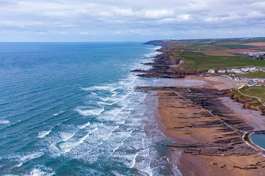 Bude coast in north Cornwall