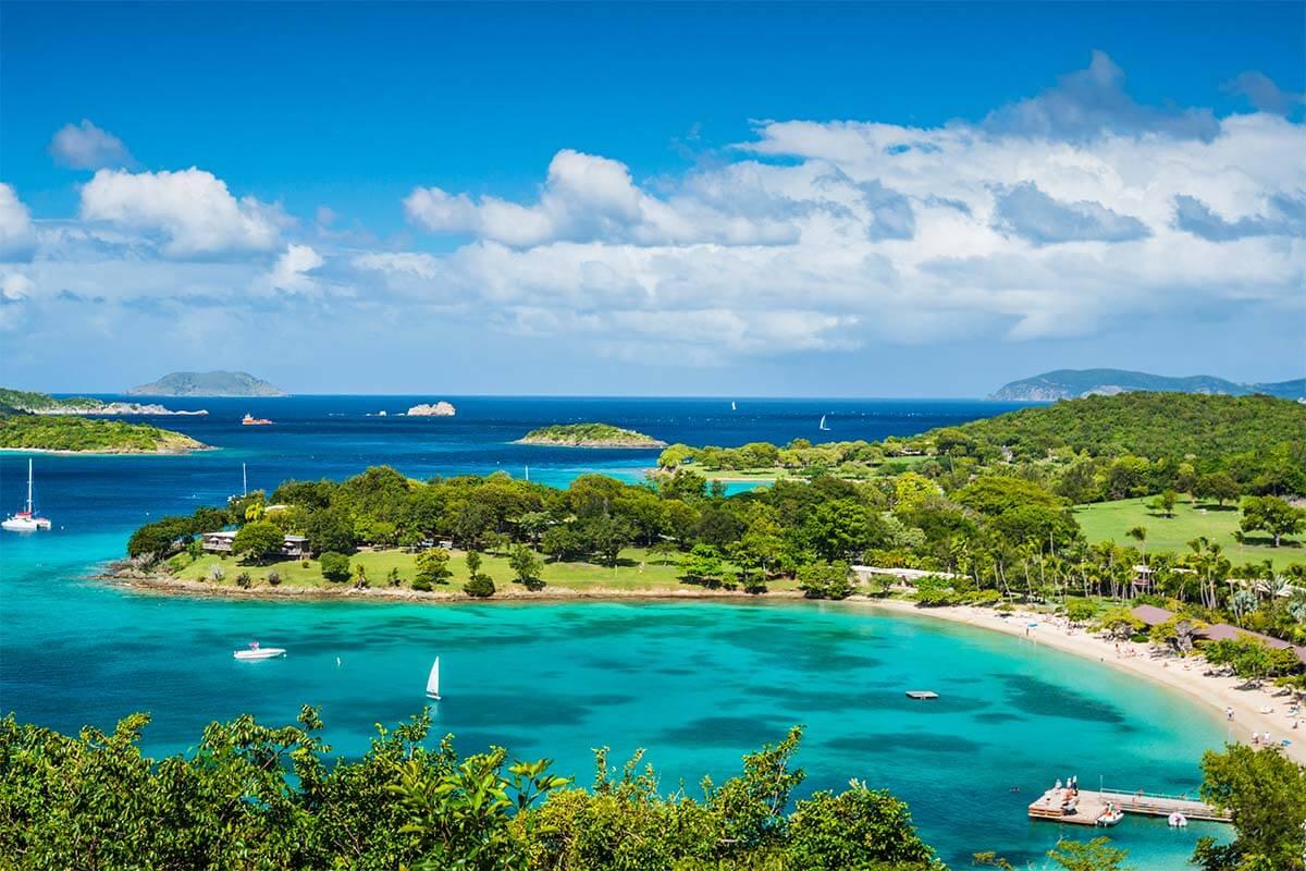 Caneel Bay in St John US Virgin Islands