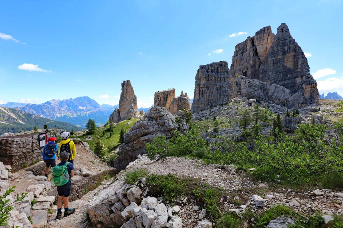 Cinque Torri is one of the nicest places to see in Dolomites Italy