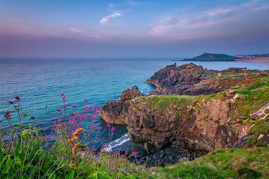 Cornwall coastline near St Ives