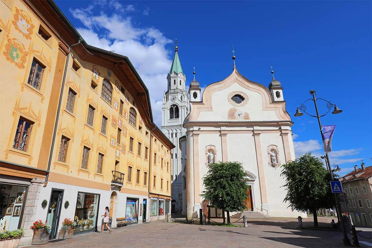 Cortina d'Ampezzo is one of the nicest towns in the Dolomites Italy