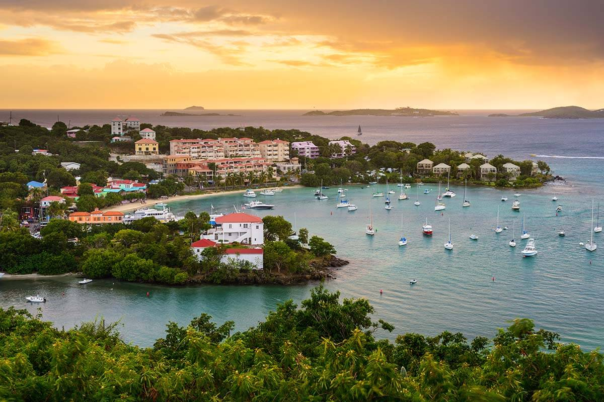 Cruz Bay in St John US Virgin Islands