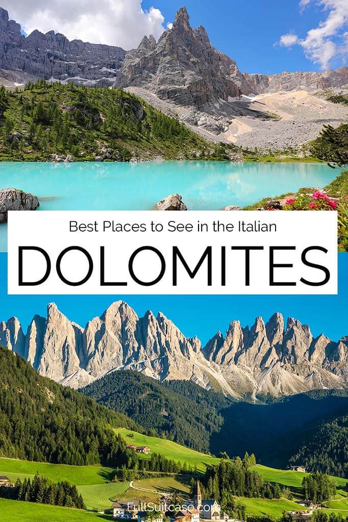 Dolomites bucket list - best places to see in the Dolomite mountains in Italy