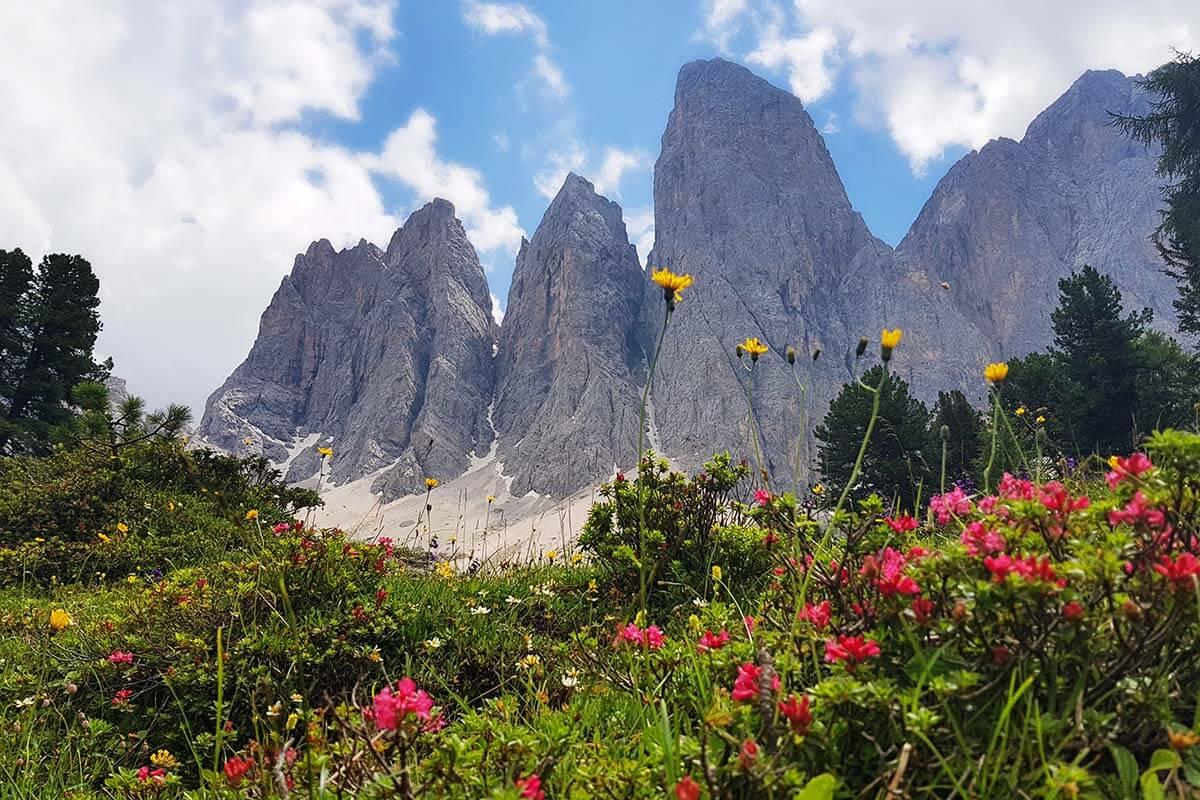 Dolomites scenery at Adolf Munkel Trail
