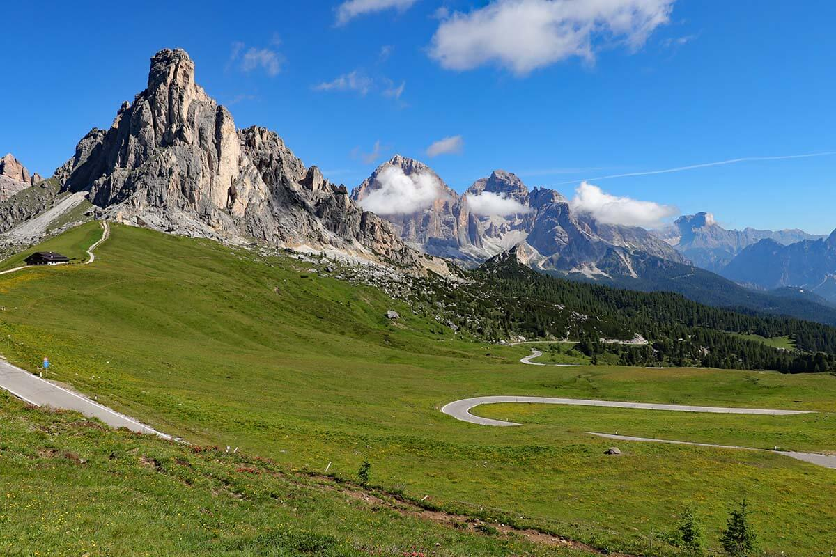 Giau Pass in the Dolomites Italy