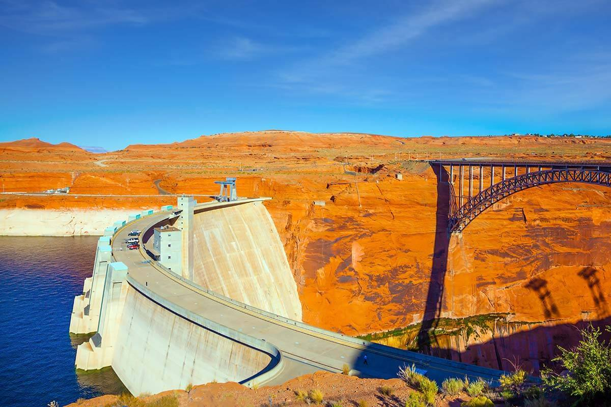 Glen Canyon Dam in Page Arizona