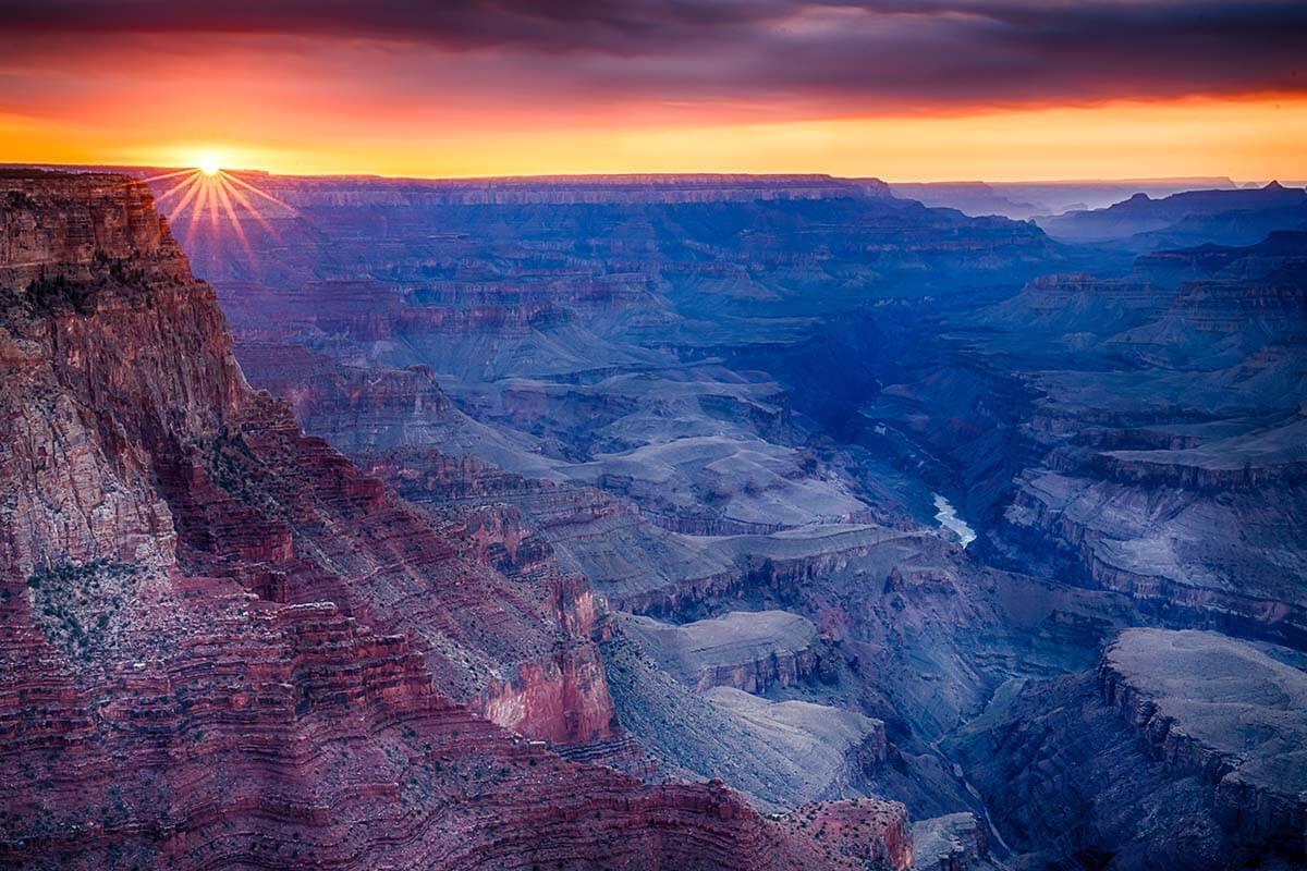 Grand Canyon sunset at Lipan Point