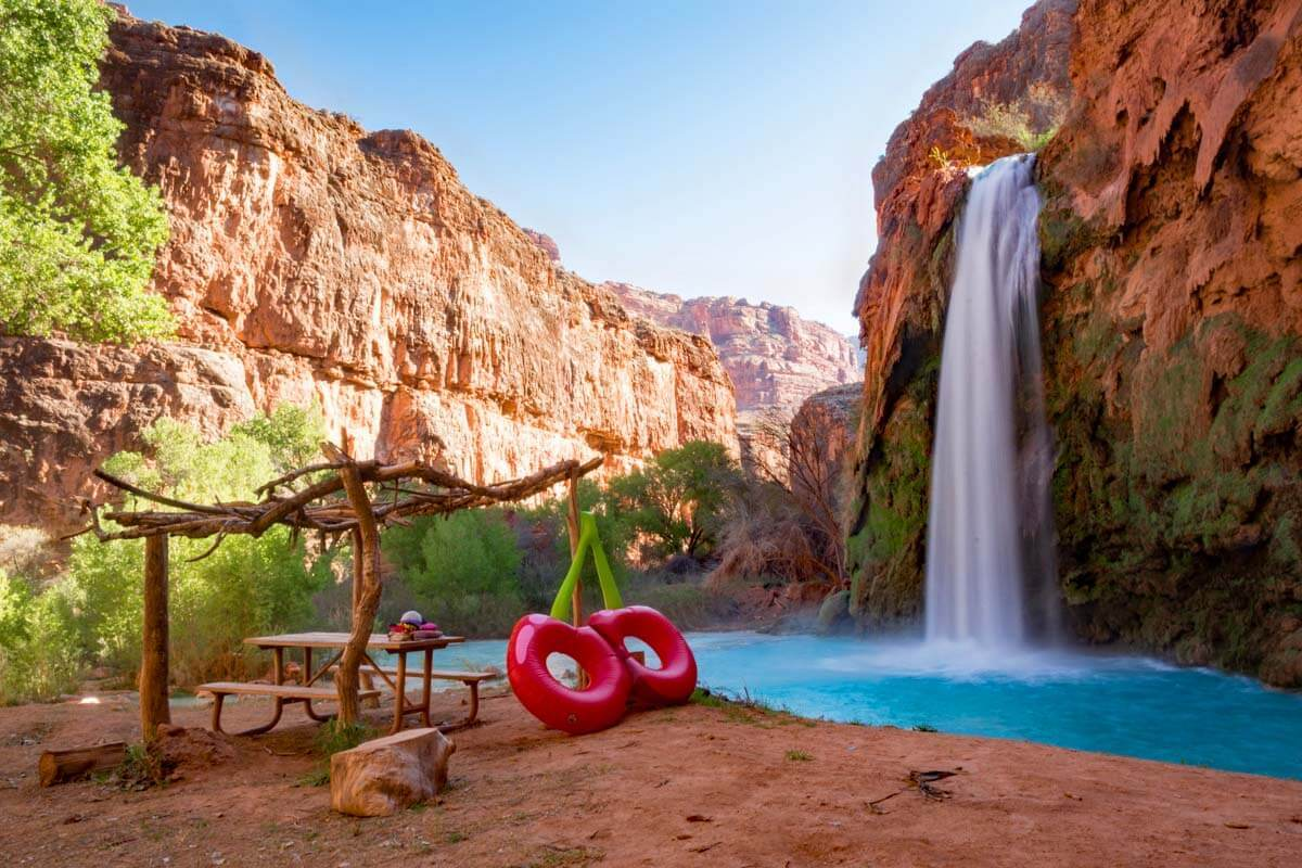 Havasu Falls is one of the best places to see in Arizona