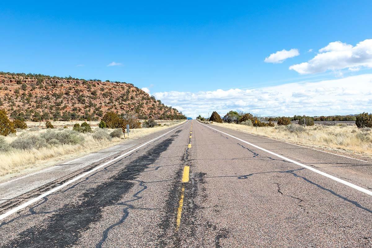 Historic Route 66 near Seligman