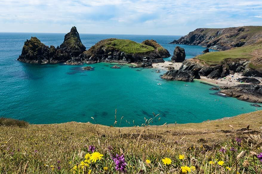 Kynance Cove is one of the most beautiful places in Cornwall UK
