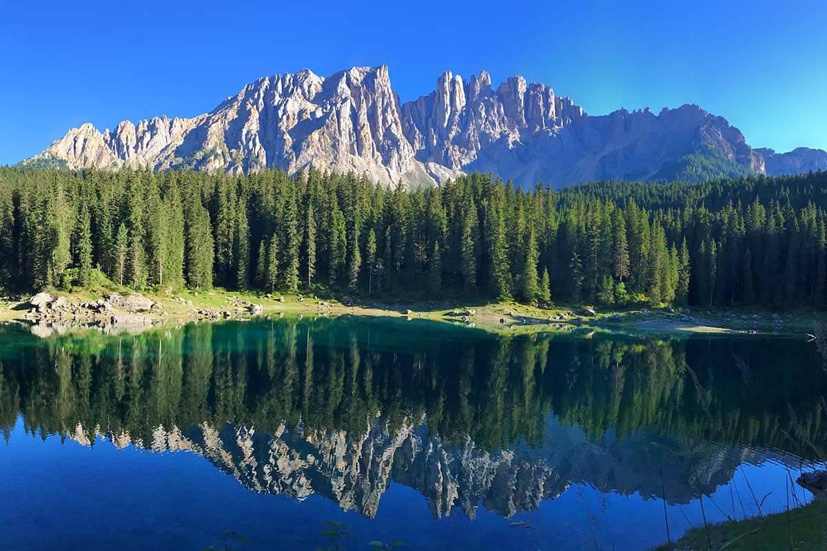 Lago di Carezza in the Dolomites Italy