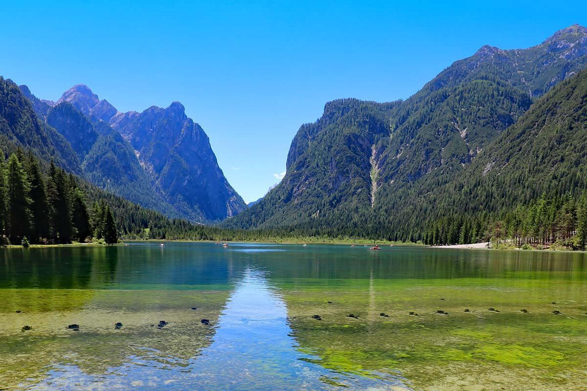 Lago di Dobbiaco (Toblacher See) in the Italian Dolomites