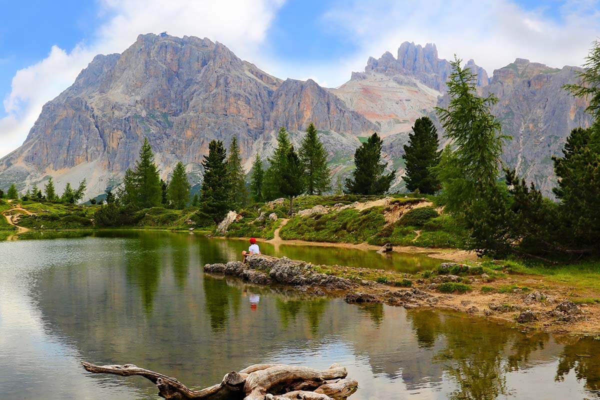 Lago di Limides is one of the most photographed lakes in the Dolomites