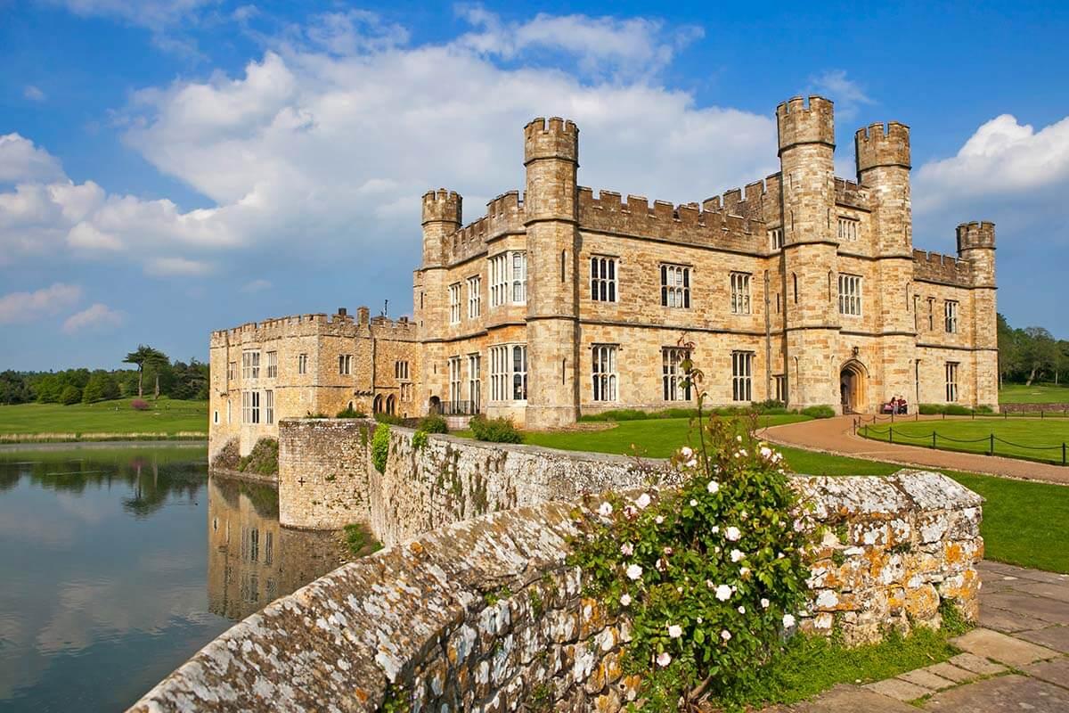 Leeds Castle is a popular day trip destination near London