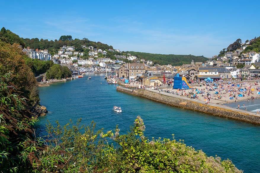 Looe town in Cornwall