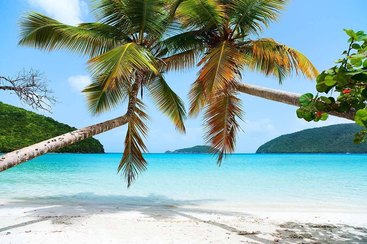 Maho Bay Beach in St John US Virgin Islands