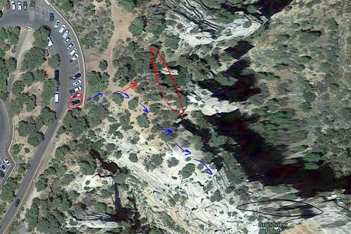 Map of the Grandview Point Secret Spot