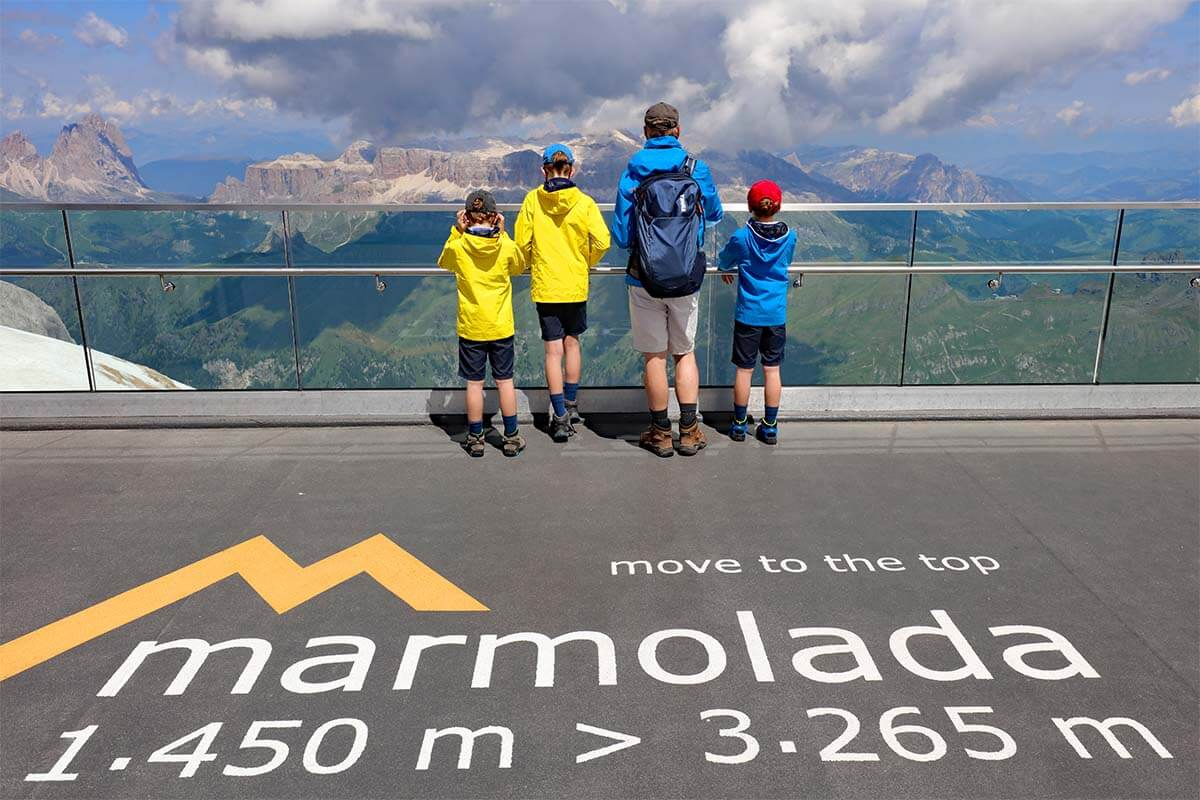 Marmolada is one of the must see places in the Dolomites Italy