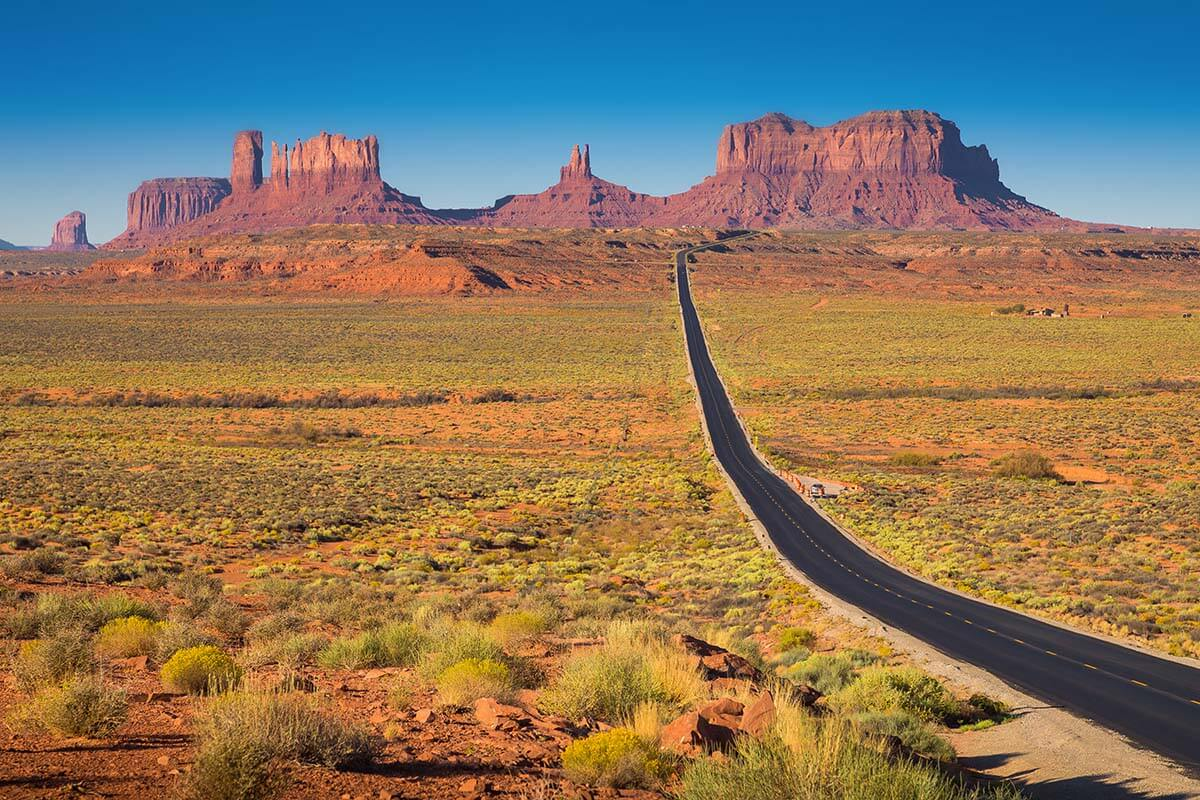 Monument Valley as seen from the main road