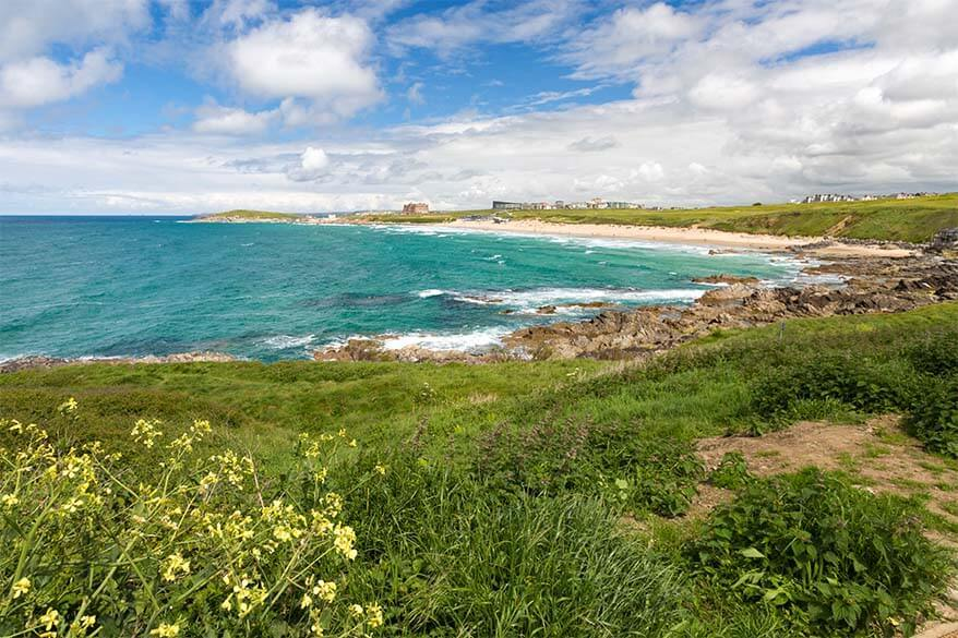 Newquay is one of the best places for beach vacation in Cornwall