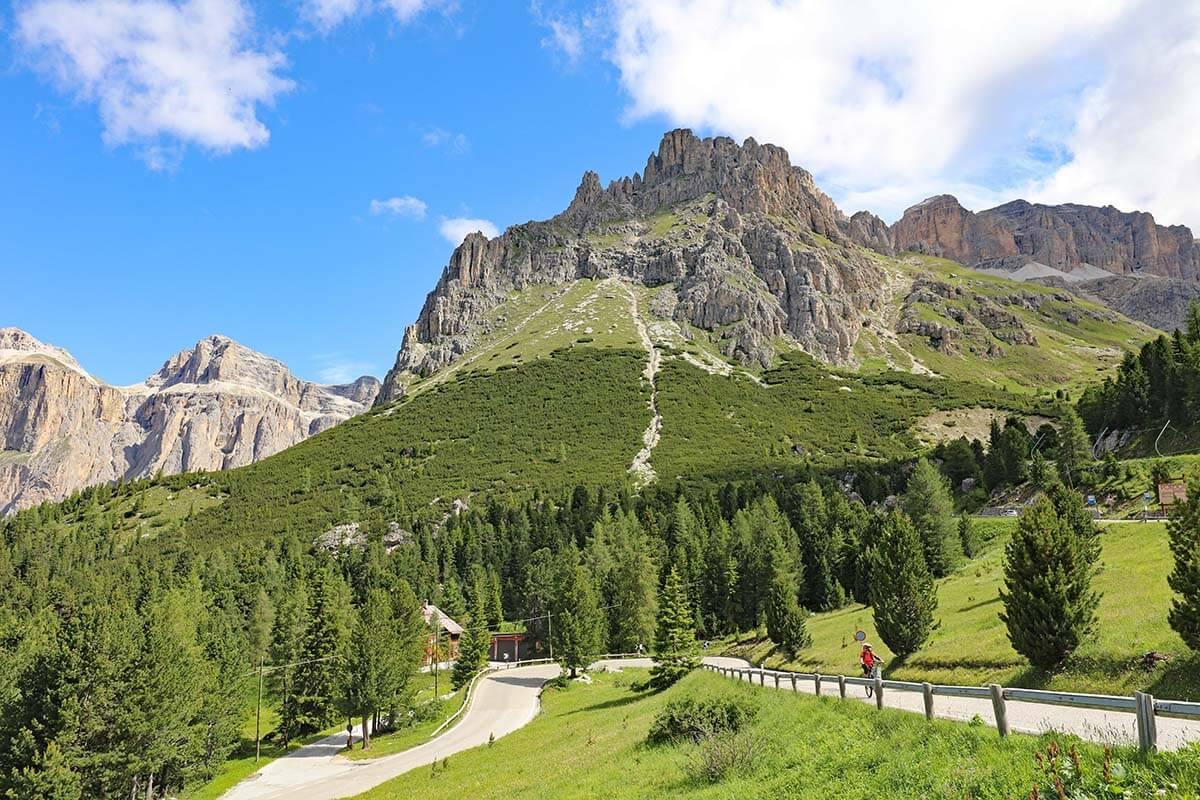Passo Pordoi in the Dolomites Italy
