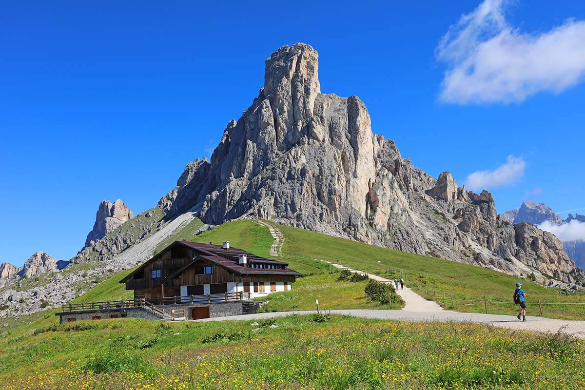 Passo di Giau in the Dolomites Italy