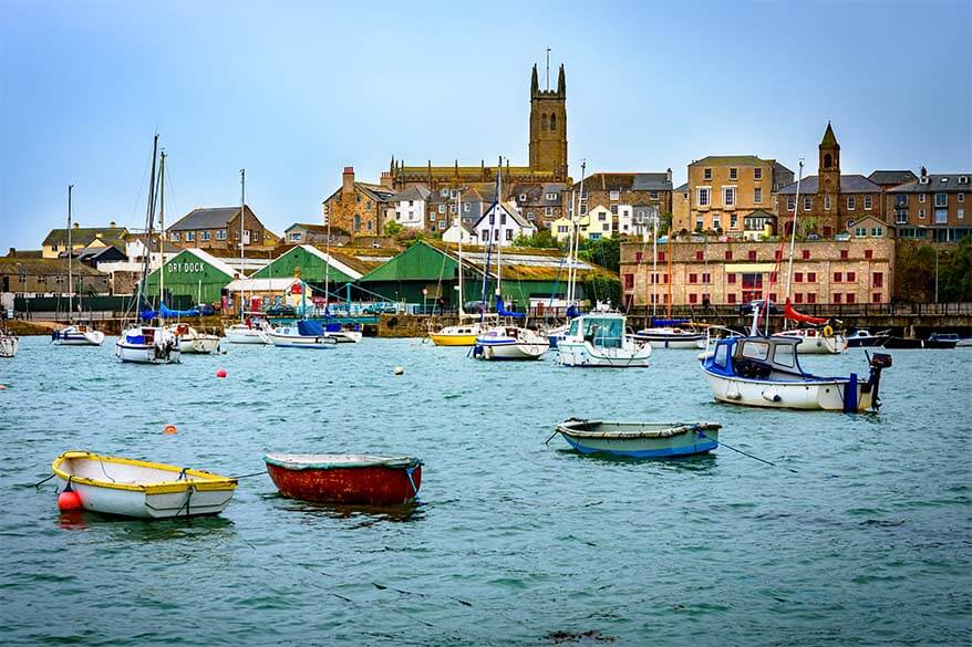 Penzance town in Cornwall England