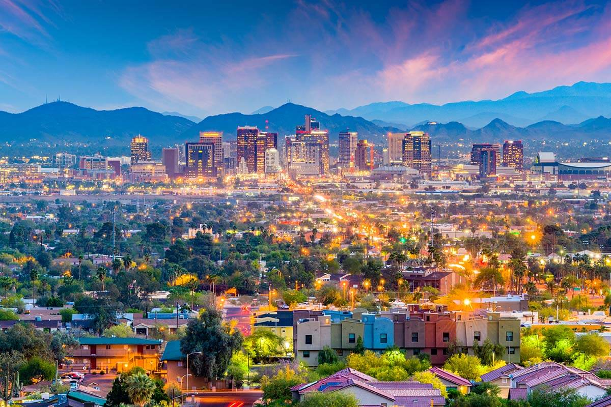 Places to visit in Arizona - Phoenix city