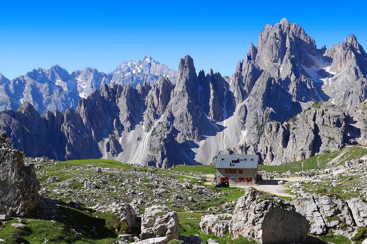 Rifugio Lavaredo in the Dolomites Italy