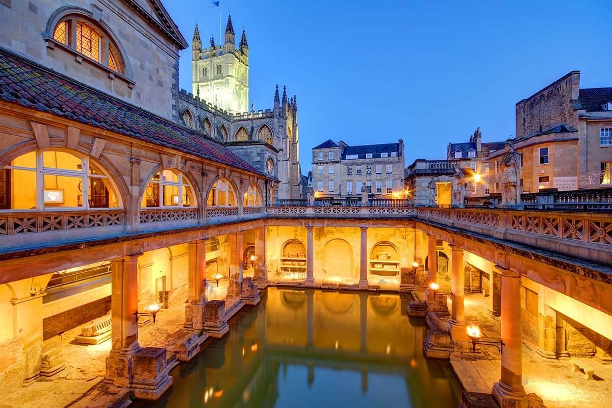 Roman Baths in Bath UK