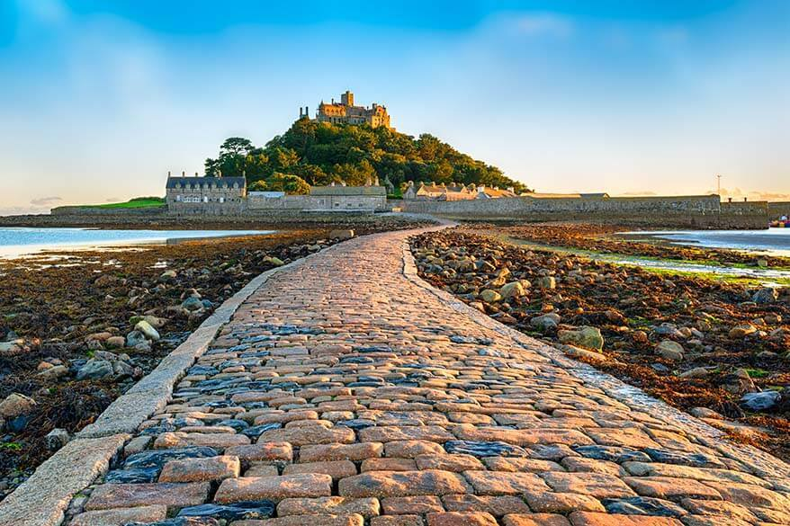 Saint Michael's Mount is one of the top places to visit in Cornwall UK