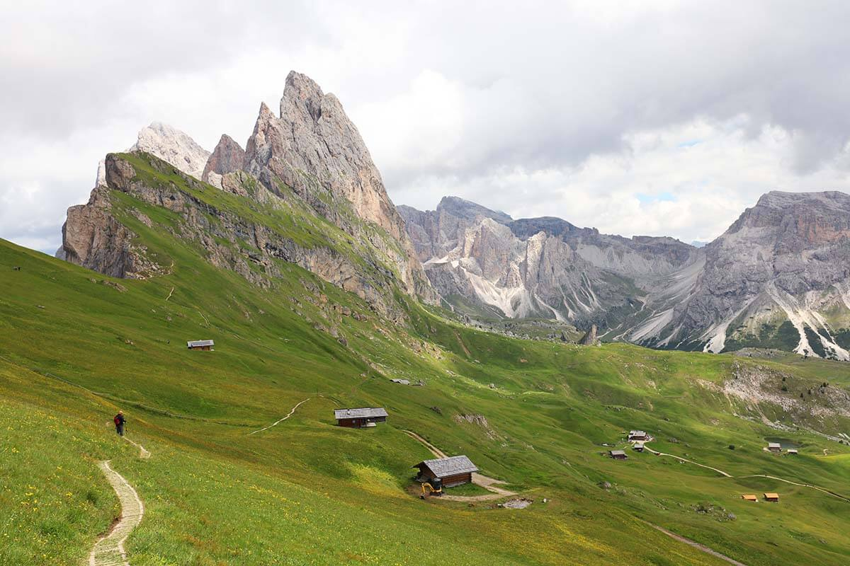 Seceda in Val Gardena is one of the most beautiful places in the Italian Dolomites
