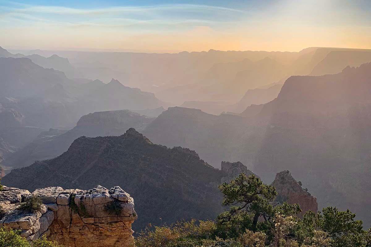 Secret Spot at Grandview Point at Grand Canyon