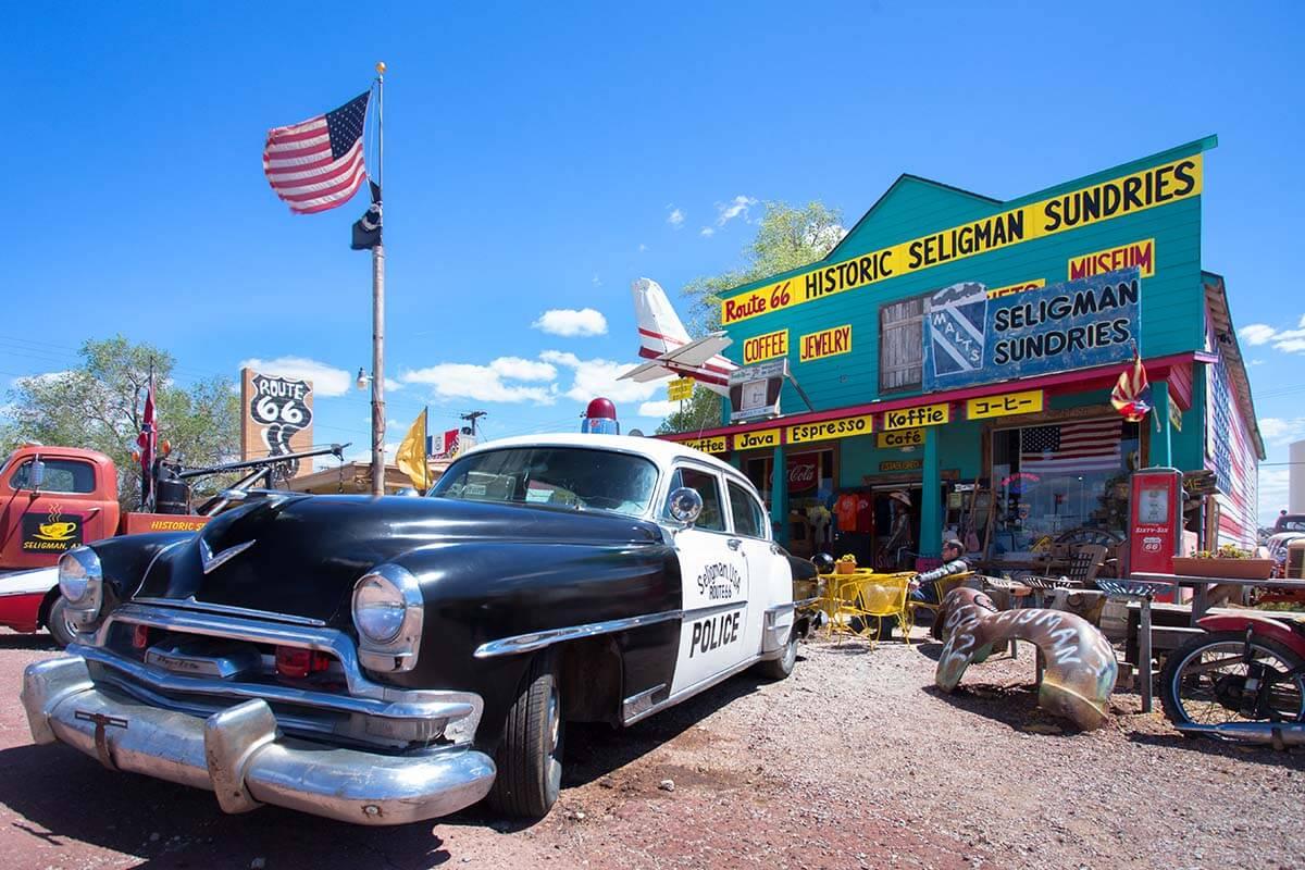 Seligman on Route 66 in Arizona
