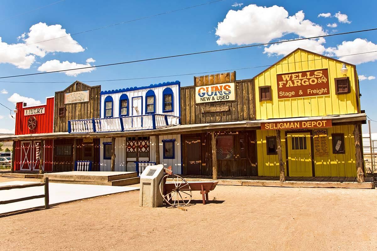 Seligman town along Route 66 in Arizona USA