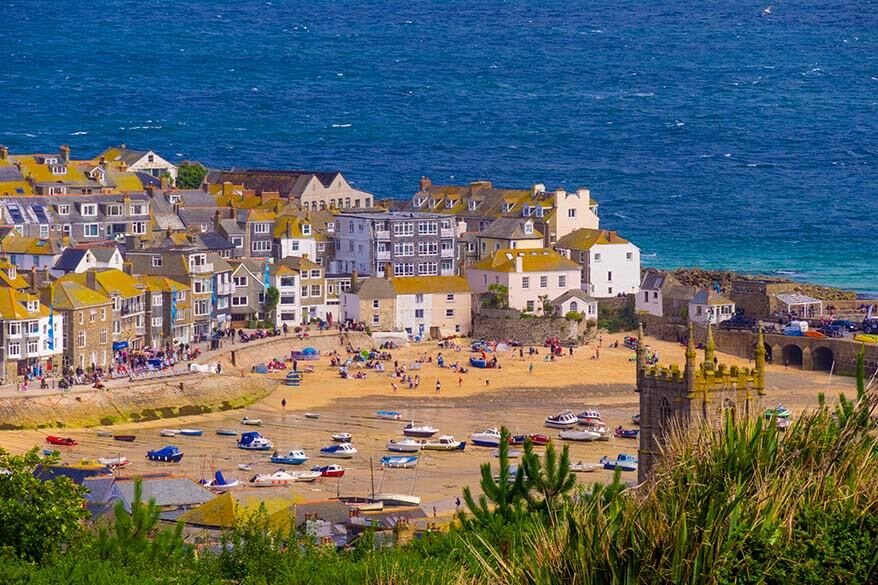 St Ives town in Cornwall