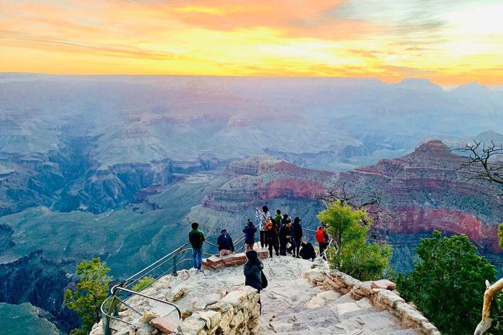 Sunset at Yavapai Point at the Grand Canyon South Rim